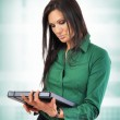 Business Woman takes notes — Stock Photo