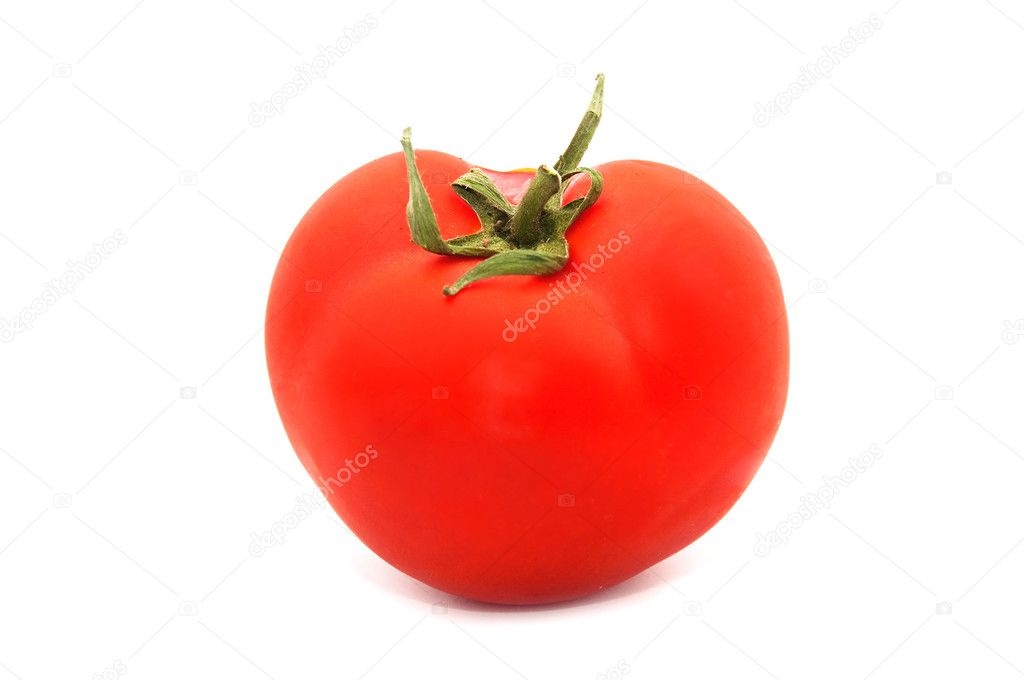 Single tomato isolated on white background — Stock Photo #3515836