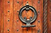 Puerta de madera masiva — Foto de Stock