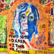 Stock Photo: Lennon Wall, graffiti