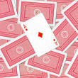 Playing cards, Ace of diamonds - Stock Photo
