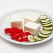Cheese, paprika and cucumber - Stock Photo