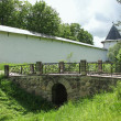 Bridge of the Pskov-Caves of the Holy Dormition Monastery - Stock Photo