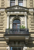 Detail of the decoration of the building — Stock Photo