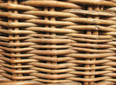 Fragment of a wicker basket — Stock Photo