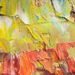 Stock Photo: Fragment of cardboard with oil paints. Background. Macro