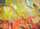 Fragment of cardboard with oil paints. Background. Macro — Stock Photo