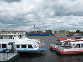 Berth on the Robespierre. St. Petersburg — Stock Photo