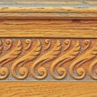 Detail of wooden door. Thread — Stock Photo