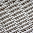 Detail of woven baskets, painted in white - Stock Photo