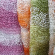 Knitted shawls handmade - Stock Photo