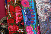 Bright shawls. Background — Stock Photo