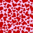 Seamless Hearts Background - Stock Vector