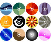 CD/DVD Label Designs — Stockvector