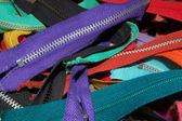 Close-up View of a Pile of Zippers — Stock Photo