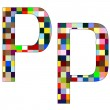Royalty-Free Stock Vector Image: Font Set 1 Letter P Isolated on White