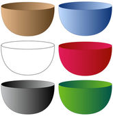 Set of Bowls — Stock Vector
