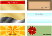 Set of Gift Certificates — Stock Vector