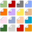 Set of Multi-Colored Stickers - Stock Vector