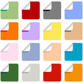 Set of Multi-Colored Stickers — Stock Vector