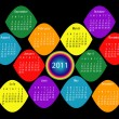 2011 Calendar in Rainbow Colors — Stock Vector