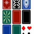 Set of Card Deck Backs - Stock Vector