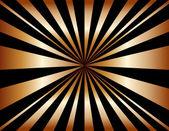 Copper Sunburst Background — Stock Vector