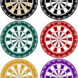 Set of Dartboards in Various Colors — Stock Vector