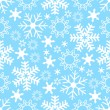 Stock vektor: Seamless Snowflake Background