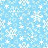 Seamless Snowflake Background — Vettoriale Stock