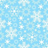 Sömlös snöflinga bakgrund — Stockvektor