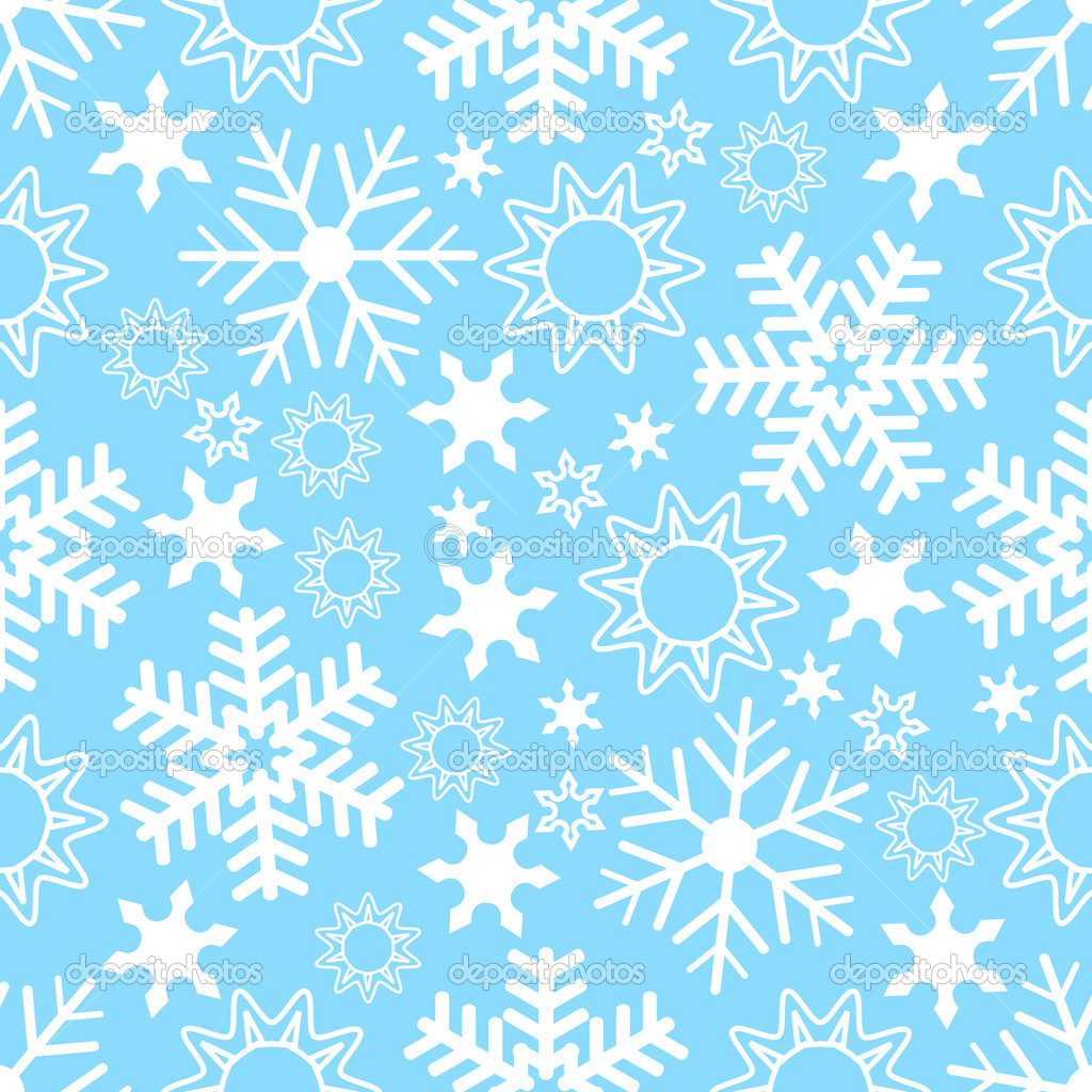 Seamless Snowflake Background — Stock Vector #3564721