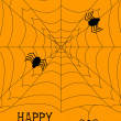 Stock Vector: Halloween Spiderweb Background