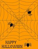 Fundo de teia de aranha de halloween — Vetorial Stock