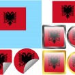 Flag Set Albania — Stock Vector