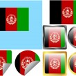 Flag Set Afghanistan - Stock Vector