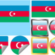 Stock Vector: Flag Set Azerbaijan