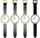 Set womens horloges — Stockvector