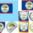 Flag Set Belize — Stock Vector