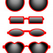 Set of Four Sunglasses — Stock Vector #3785725