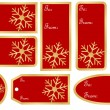 Set of Christmas Gift Tags — Stock Vector #3785728