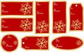 Set de regalo de navidad etiquetas — Vector de stock