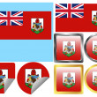 Vettoriale Stock : Flag Set Bermuda