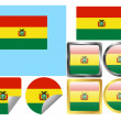 Flag Set Bolivia — Stock Vector #3820095