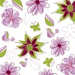 Floral background with butterfly — Imagen vectorial