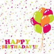 Happy birthday card - Imagen vectorial