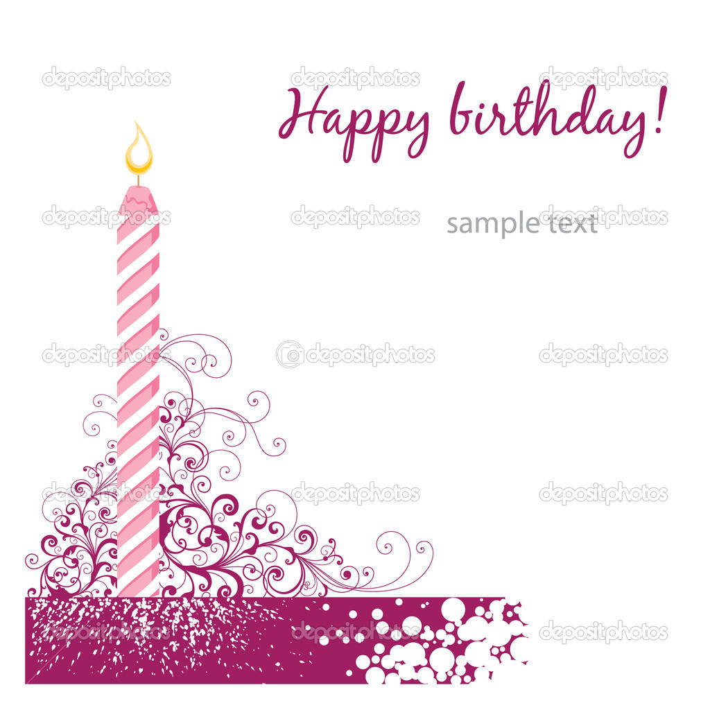 Rose birthday card  — Stock Vector #3569669