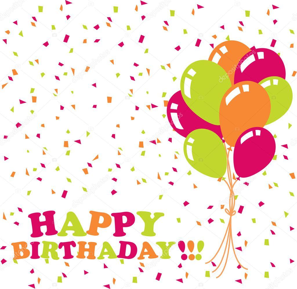 Happy birthday card stock illustration