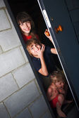 Three cheerful children — Stock Photo