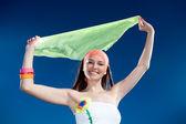 Nice girl with kerchief — Stock Photo
